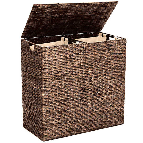 Best Choice Products Natural Water Hyacinth Laundry Hamper