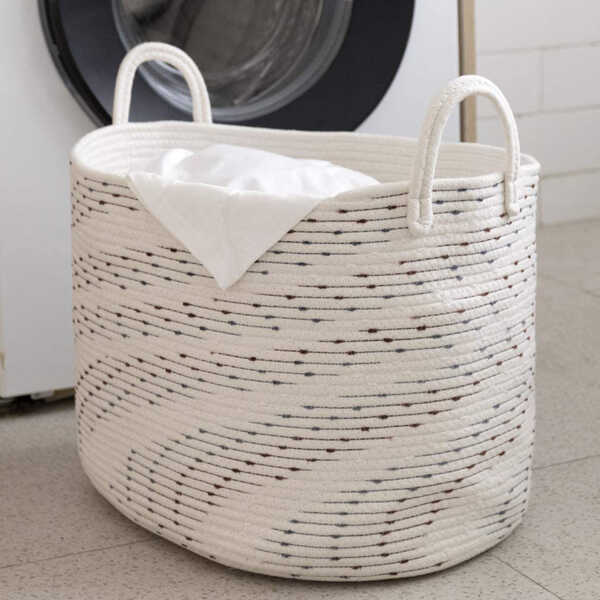 Cotton-Rope-Woven-Laundry-Basket