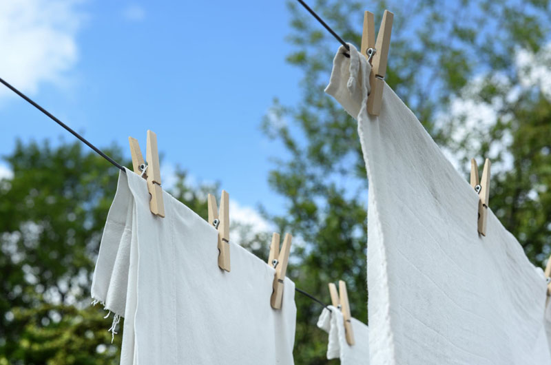 Line dry your clothes instead of using the machine dryer.