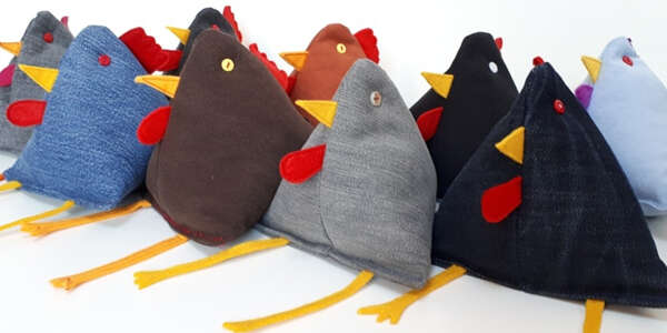 Upcycled-Denim-Jeans-Chickens