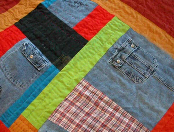 How-To-Sew-Old-Clothes-Into-A-Quilt