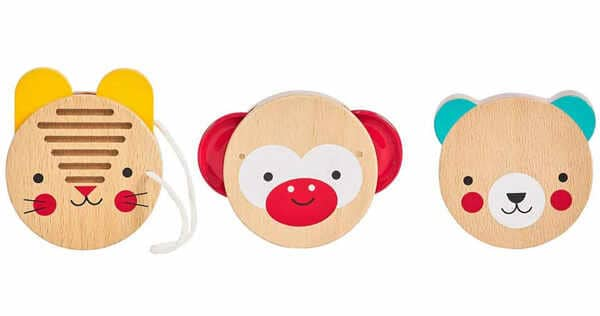 Petit-Collage-Animal-Non-Toxic-Wood-Percussion-Baby-Set